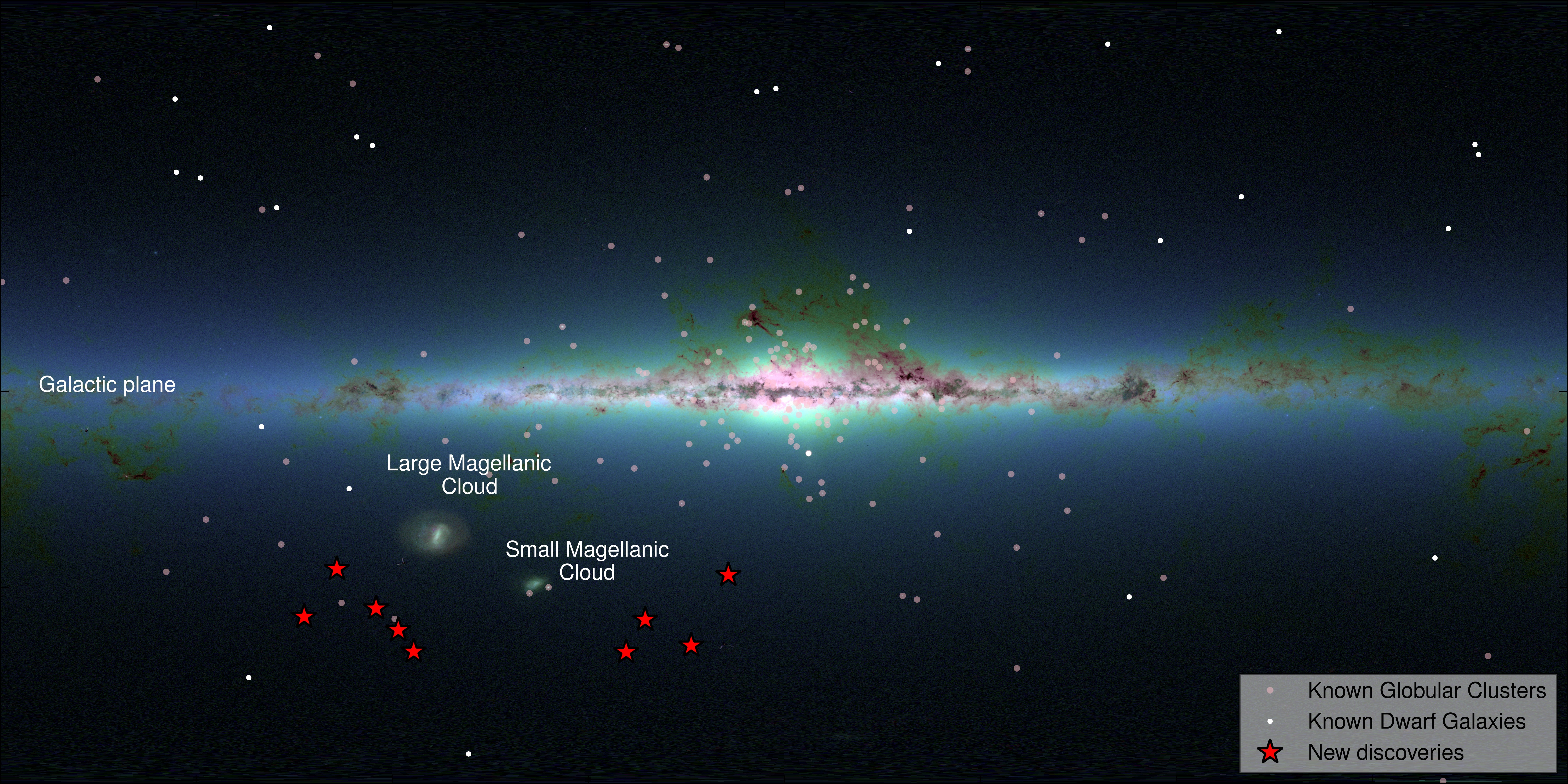 Milky Way Has More Satellite Galaxies Science Wire EarthSky - Astronomical map of galaxies in the us